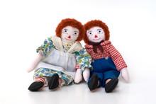Raggedy Ann And Andy Handmade Rag Dolls