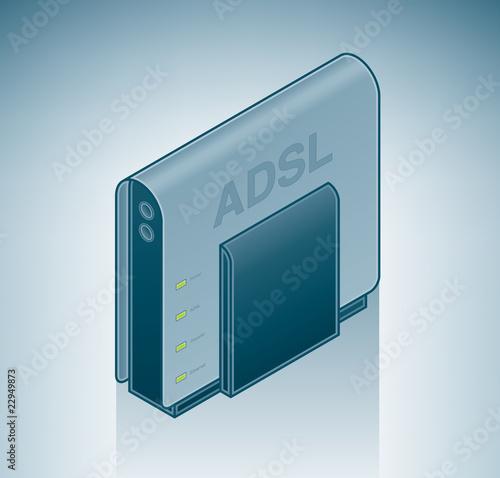 ADSL Modem Canvas Print