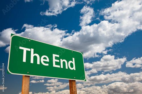 The End Green Road Sign Fototapeta
