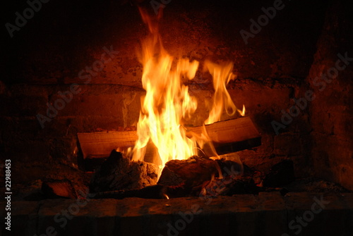 Poster Fire / Flame Fireplace