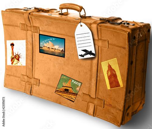 Fototapeta walizka obraz