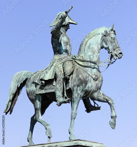 Staande foto Stockholm Statue
