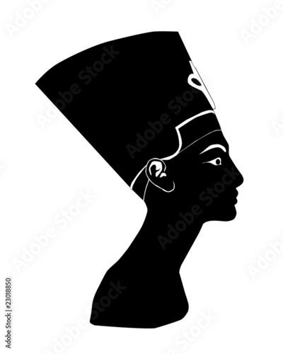 czarna-sylwetka-nefertiti