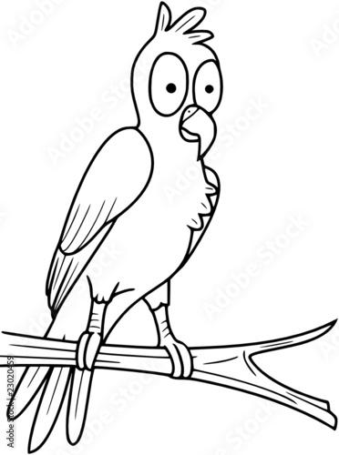 Tuinposter Sprookjeswereld Papagei