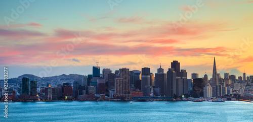 Keuken foto achterwand San Francisco San Francisco Skyline at Sunset HDRI