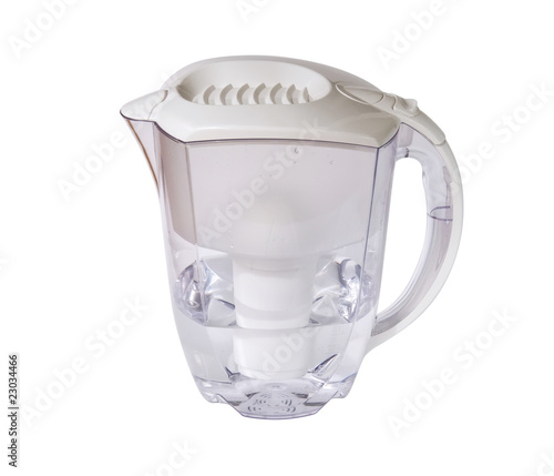 Clear water filter pitcher with clipping path - Buy this