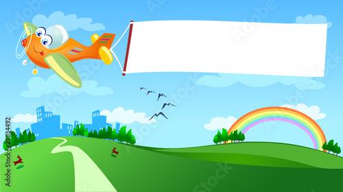 Papiers peints Avion, ballon Aereo e banner
