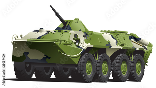 Poster Militaire armored troop-carrier.