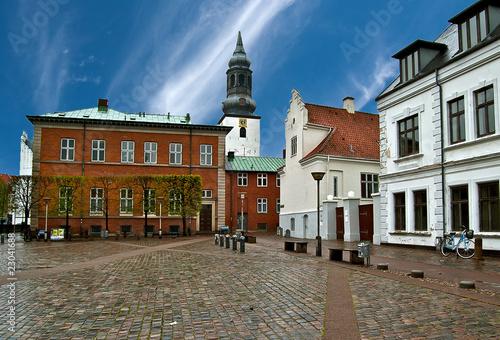 Poster Scandinavie La place C.W. Obels à Aalborg au Danemark