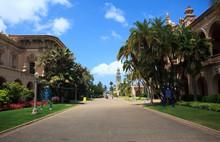 View Down El Prado In Balboa Park