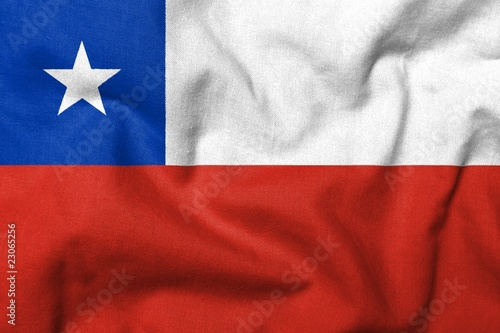 Papiers peints Amérique du Sud 3D Flag of Chile