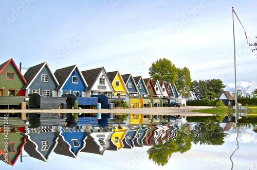 Poster Scandinavie Maisons danoises à Odense