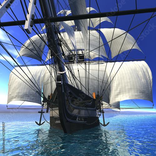 statek-zaglowy-na-morzu