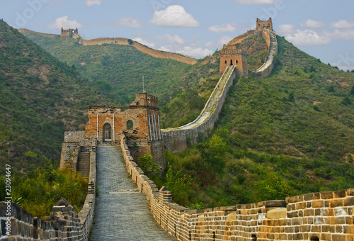 Foto op Canvas Chinese Muur The path ahead