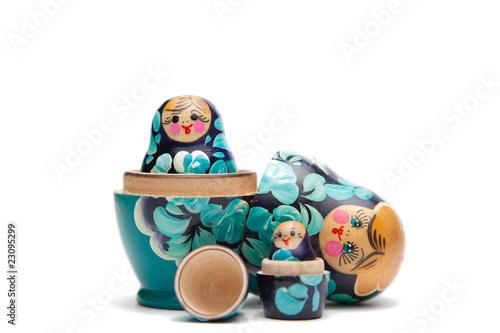 Fotografia, Obraz russian nesting dolls (babushka) half open