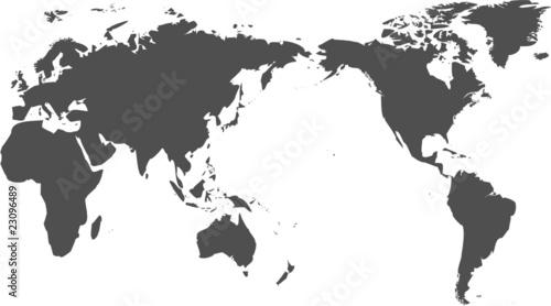 Ingelijste posters Wereldkaart 世界地図