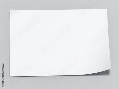 Fotografía  blank sheet of paper