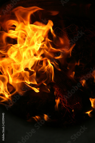 Canvas Prints Flame fire background