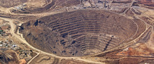 Aerial View Of Enormous Copper...