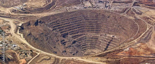 Recess Fitting Africa Aerial view of enormous copper mine at palabora, south africa