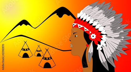 Poster Indiens American indian