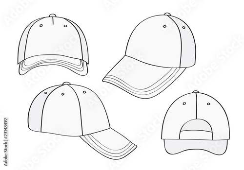 b100df34b00 Blank Cap (different points of view) With Space For Your Design ...