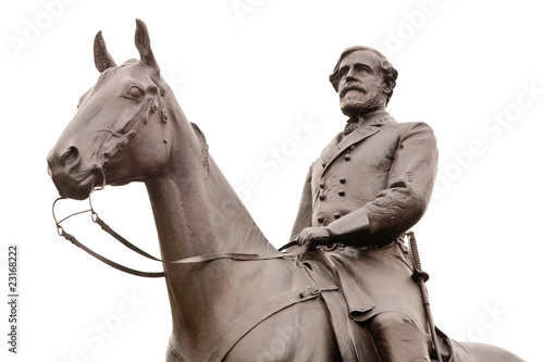 Photo Robert E. Lee Statue at Gettysburg, Isolated