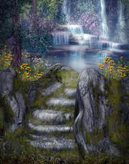 Plakat Magiczne wodospady