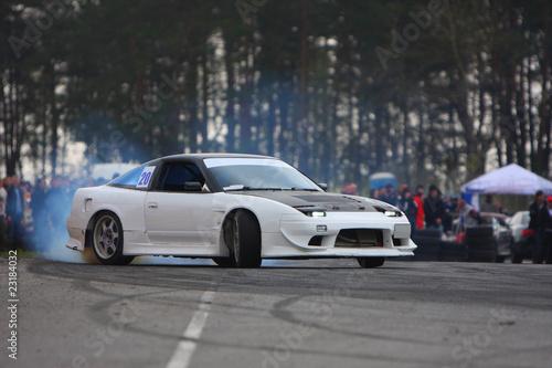 Deurstickers Snelle auto s Drift competition 3