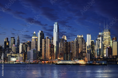 New York city manhattan taken from jersey side - hoboken