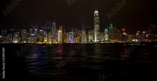 Plakat Hongkong w nocy