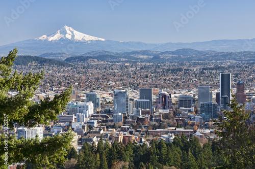Cuadros en Lienzo  Beautiful Vista of Portland, Oregon
