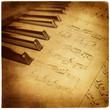 Leinwanddruck Bild musical retro background