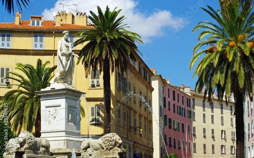 Ajaccio place Foch statue Napoleon Wallpaper Mural