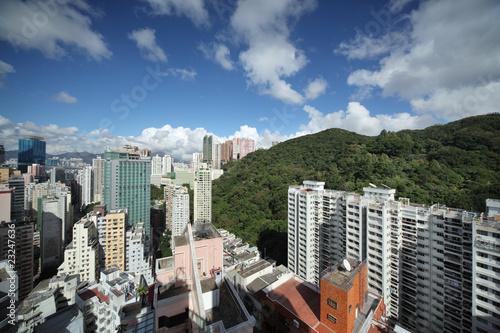 Etiqueta engomada - Hong Kong cityscape