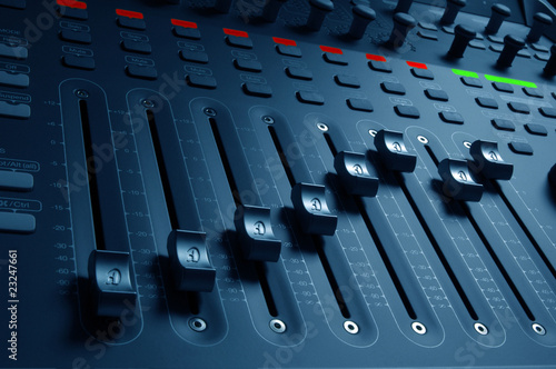 Photo Audio Mixing Board Sliders
