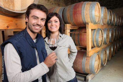 Fotografía Couple de viticulteurs
