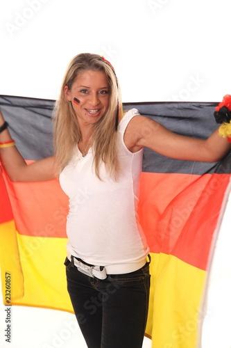 Foto op Aluminium Buffet, Bar Fußball Fan Deutschland