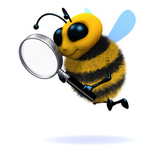 3d Bumble Bee With Magnifying ...