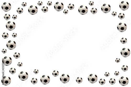 Photo  soccer ball frame