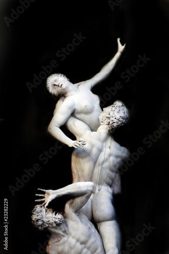 Cuadros en Lienzo Rape of the Sabine Women - famous statue in Florence