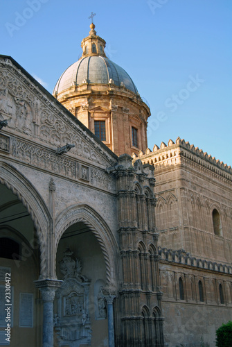 Garden Poster The famous portico of the Cathedral of Palermo by Gagini