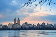 Central Park Skyline Over Lake...