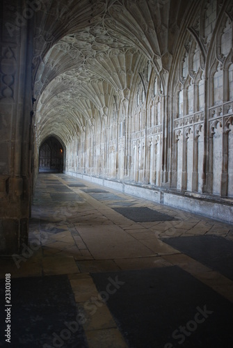 Fotografie, Obraz The Cloister in Gloucester Cathedral
