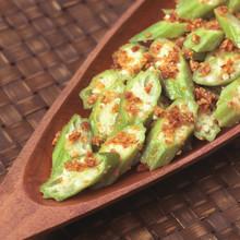 Asian Okra In Garlic Sauce