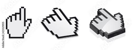 Foto op Aluminium Pixel famille de curseur 2D & 3D