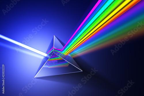 Tablou Canvas Light dispersion illustration.