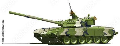Photo modern heavy tank