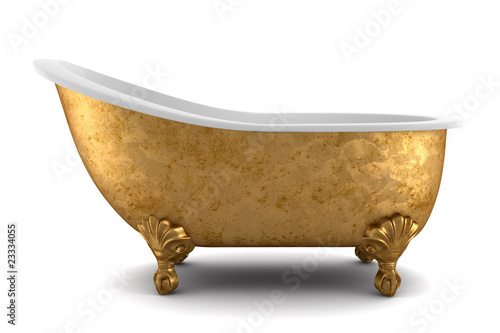 Fotografía classic bathtub isolated on white background