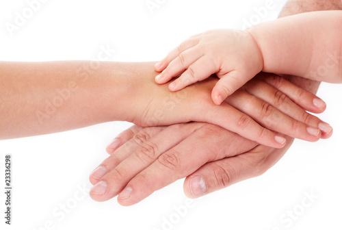 Fotomural  Family hands